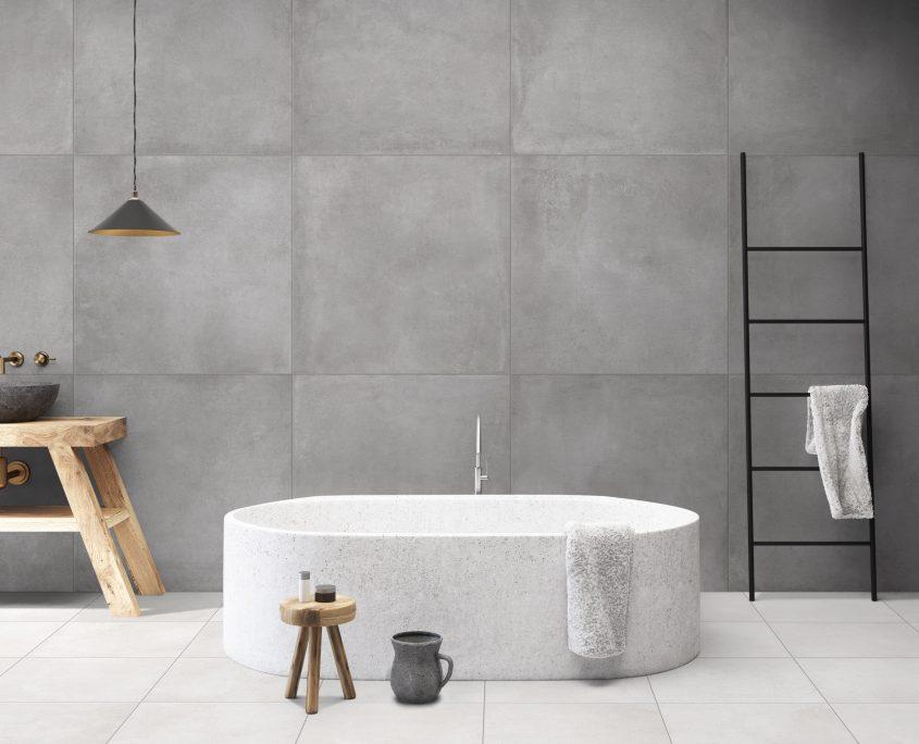 Terratinta - Concrete bathroom, round tub
