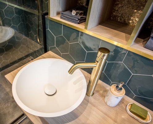 Terratinta Hexa Green Echo | L'antic Gravity 3D Hexagon Gold